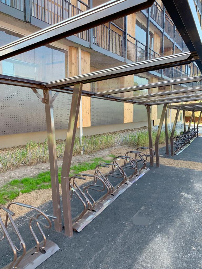 Installerad cykelparkering på NCC – Brf Solhagaparken