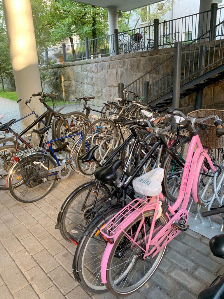 Cykelparkeringar från Klaver på BRF Klarbäret